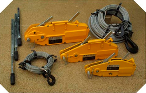 Goodwinch GP1 Handwinch, 1.5 tonne nominal (800kg SWL), c/w 20m x 8mm wire rope